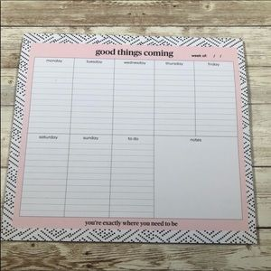 Other - Good Things Coming 50 Week Planner Pad